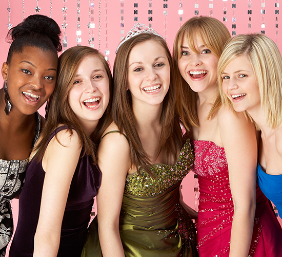 enjoy prom party in limousine near nyc