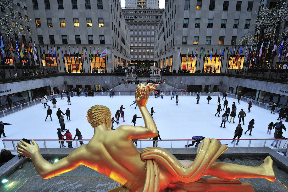 ICE RINK AT ROCKEFELLER CENTRE
